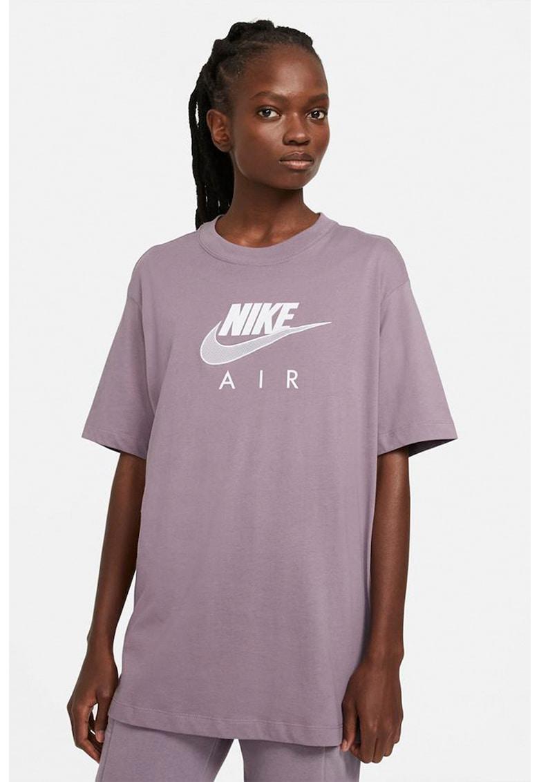 Tricou supradimensionat cu decolteu la baza gatului Air imagine