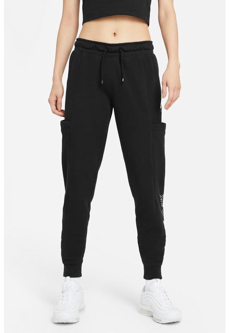 Nike Pantaloni sport cu croiala conica si snur de ajustare in talie Air