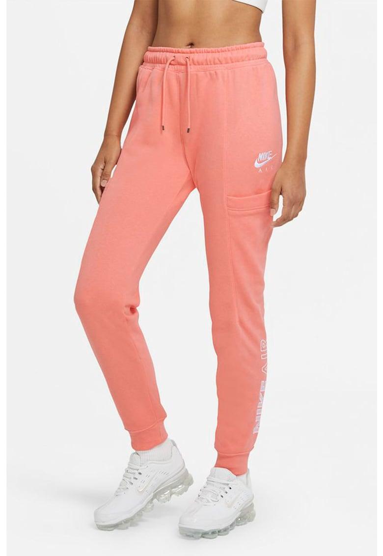 Pantaloni sport cu croiala conica si snur de ajustare in talie Air de la Nike