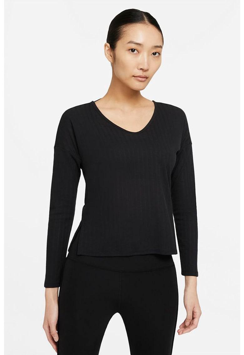 Bluza cu detalii pointelle pentru fitness Yoga imagine fashiondays.ro Nike