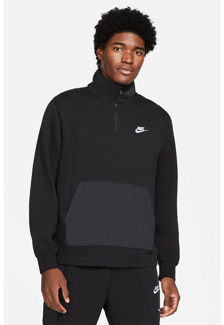 Bluza cu fenta scurta cu fermoar Sportswear imagine fashiondays.ro Nike