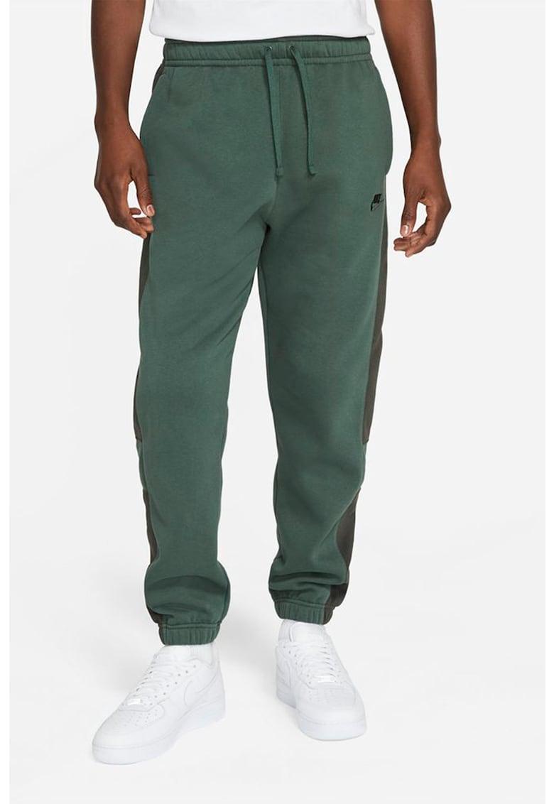 Pantaloni sport cu insertii laterale contrastante