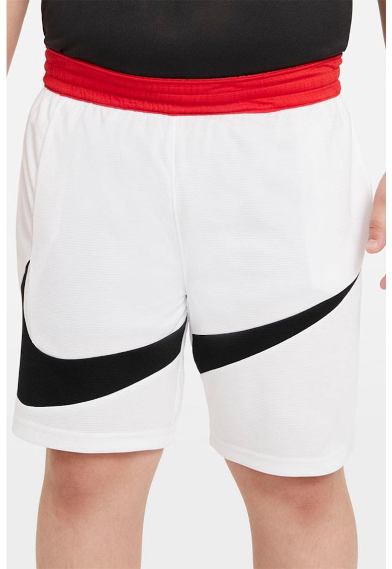 Pantaloni scurti cu tehnologie Dri-Fit si talie elastica pentru baschet fashiondays.ro
