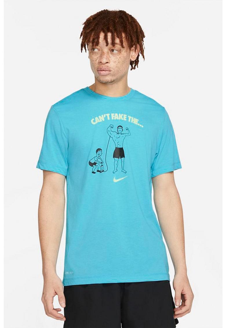 Tricou cu imprimeu pentru antrenament DB Cant Fake It imagine fashiondays.ro