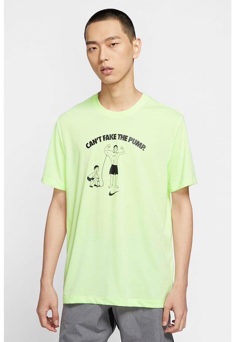Tricou cu imprimeu pentru antrenament DB Cant Fake It