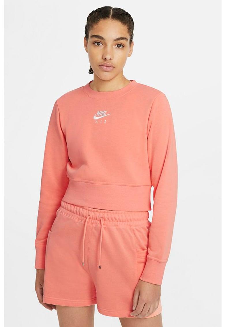 Bluza sport crop cu logo imagine fashiondays.ro Nike