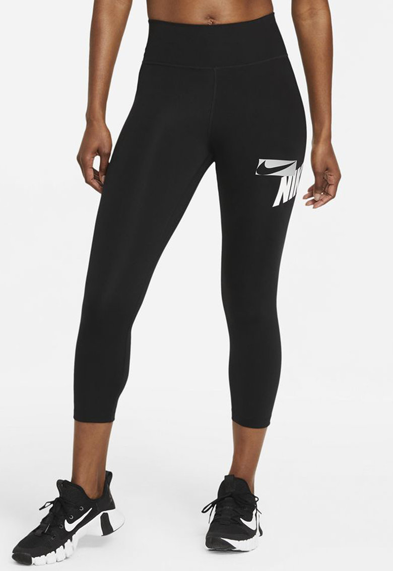 Colanti 7/8 cu talie inalta pentru fitness imagine fashiondays.ro Nike
