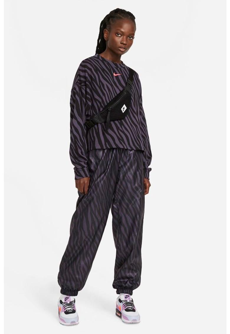 Bluza sport cu animal print Icon Clash imagine fashiondays.ro Nike