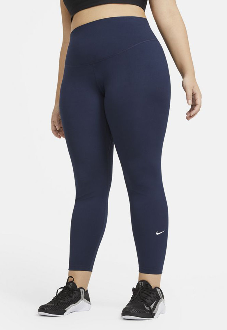 Colanti cu talie inalta si tehnologie Dri-FIT pentru fitness imagine fashiondays.ro Nike