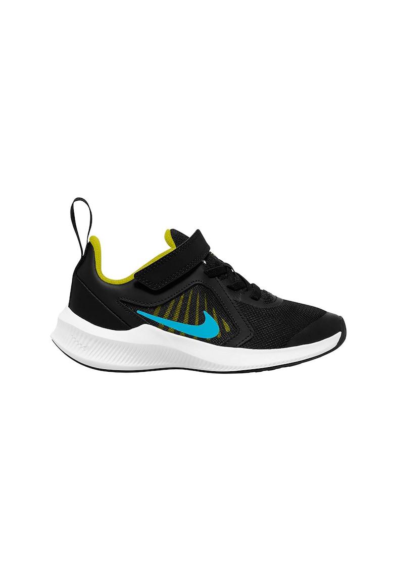 Pantofi sport de piele cu detalii contrastante si velcro Downshifter 10 fashiondays.ro