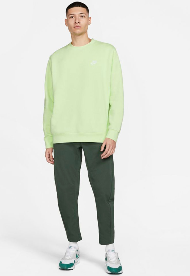 Bluza sport cu decolteu la baza gatului si logo brodat imagine fashiondays.ro Nike