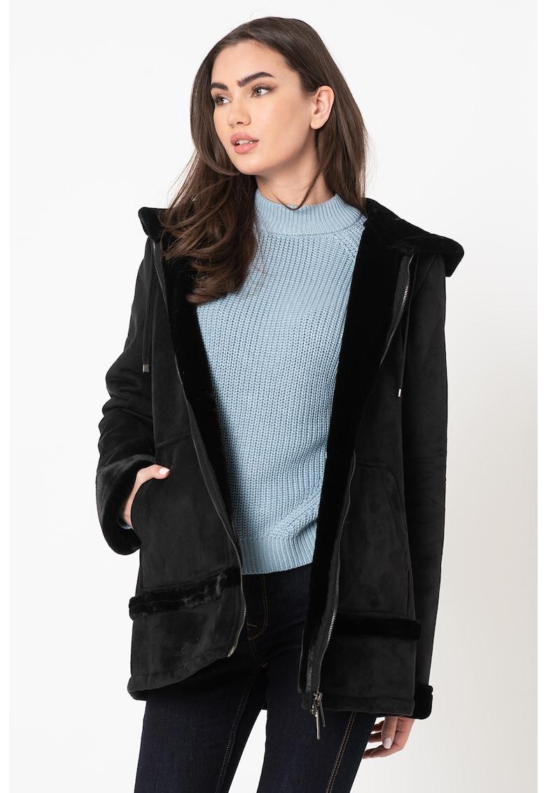 Jacheta din piele sintetica de oaie