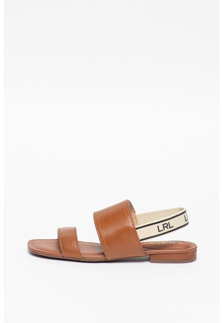 Sandale slingback de piele Karter fashiondays.ro