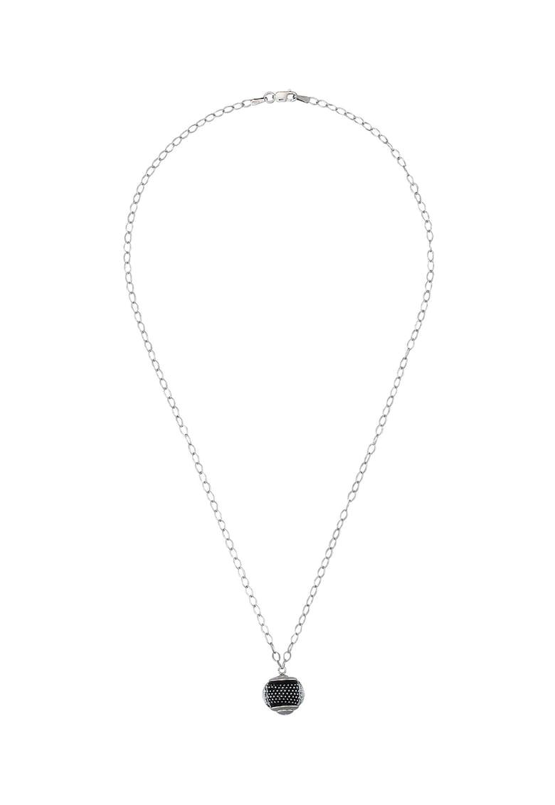 Colier de argint cu pandantiv de sticla murano