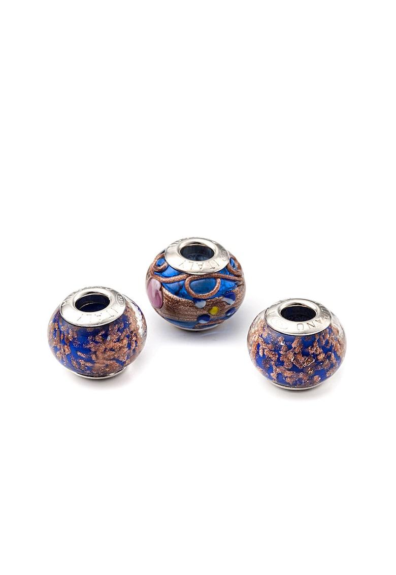 Set de talismane de argint si sticla murano - 3 piese imagine promotie