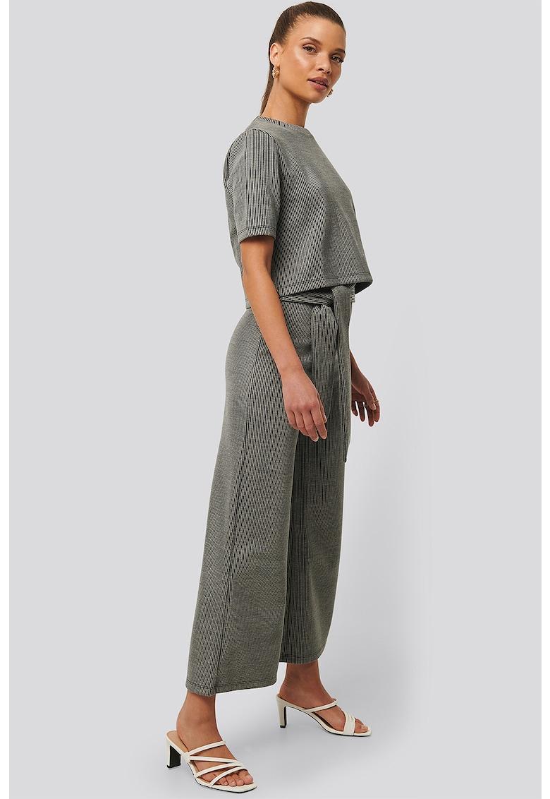 Bluza crop cu striatii imagine