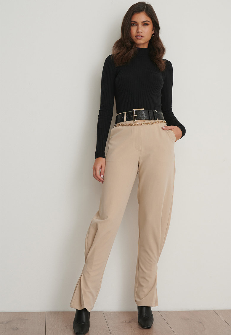 Pantaloni cu talie inalta si fronseuri imagine