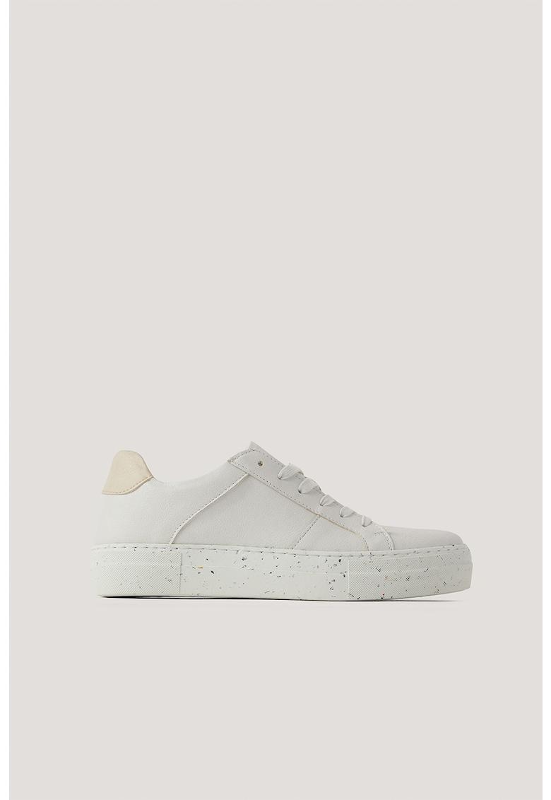Pantofi sport de piele ecologica si material textil imagine