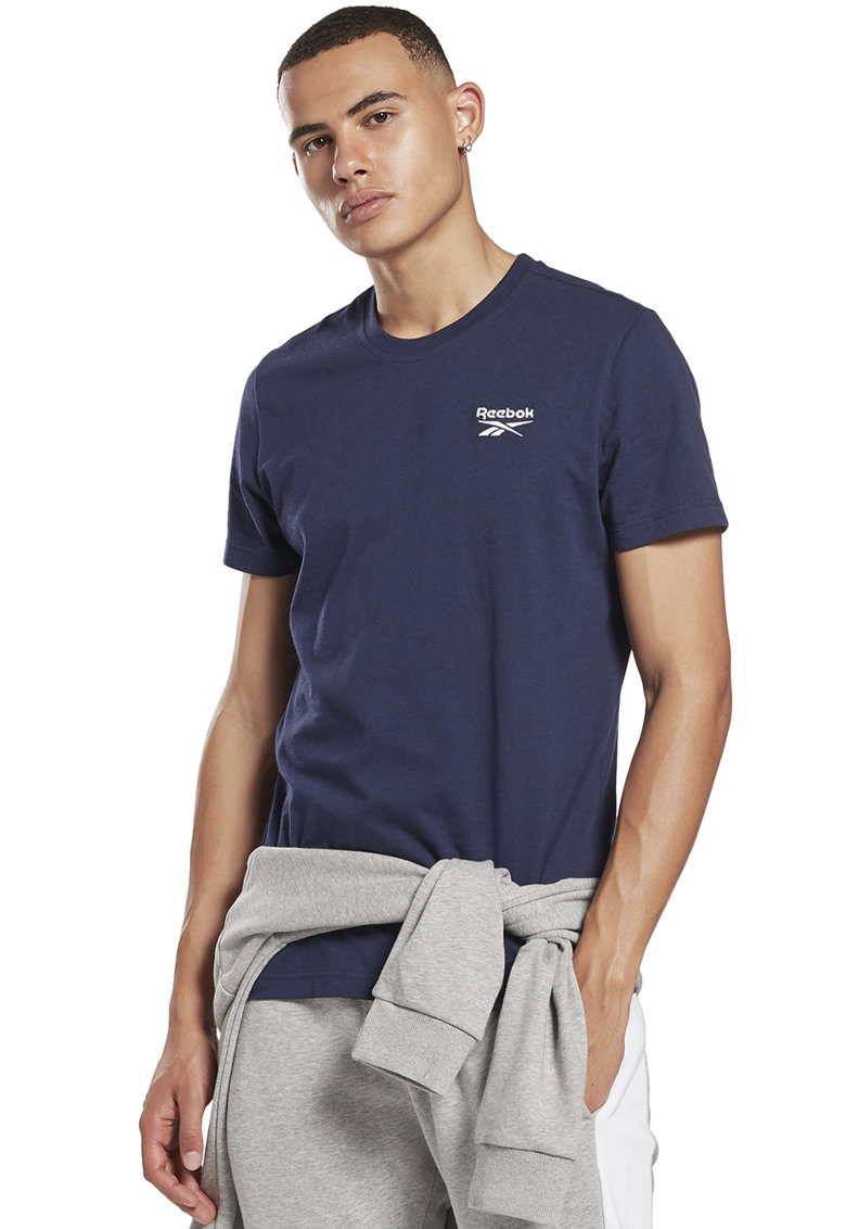 Tricou cu logo brodat pe piept - pentru fitness Identity