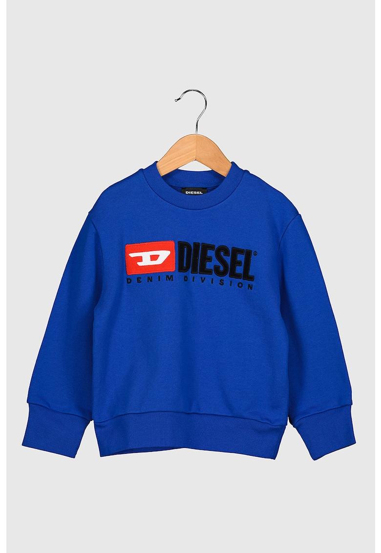 Bluza sport cu decolteu la baza gatului si logo Division imagine promotie