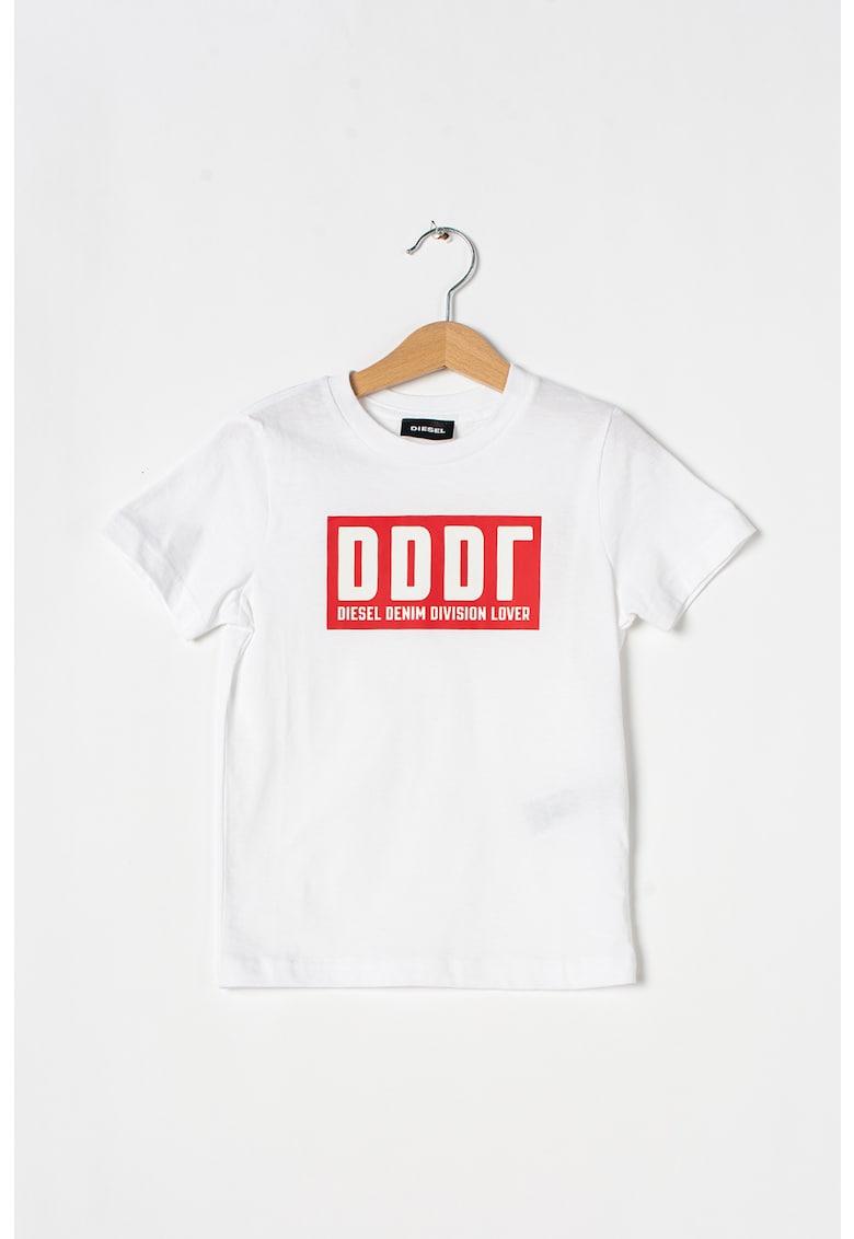 Tricou de bumbac cu imprimeu logo Justa Diesel fashiondays.ro