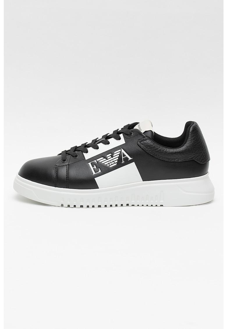 Pantofi sport din piele si piele ecologica