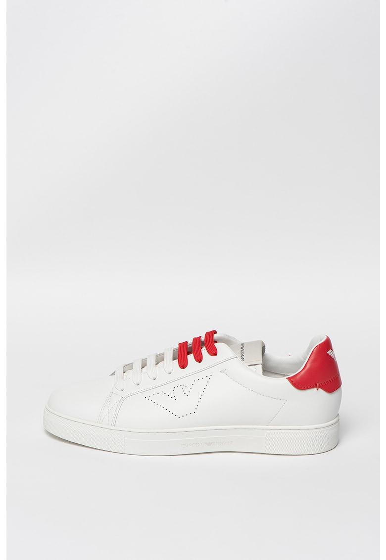 Pantofi sport cu logo cu perforatii