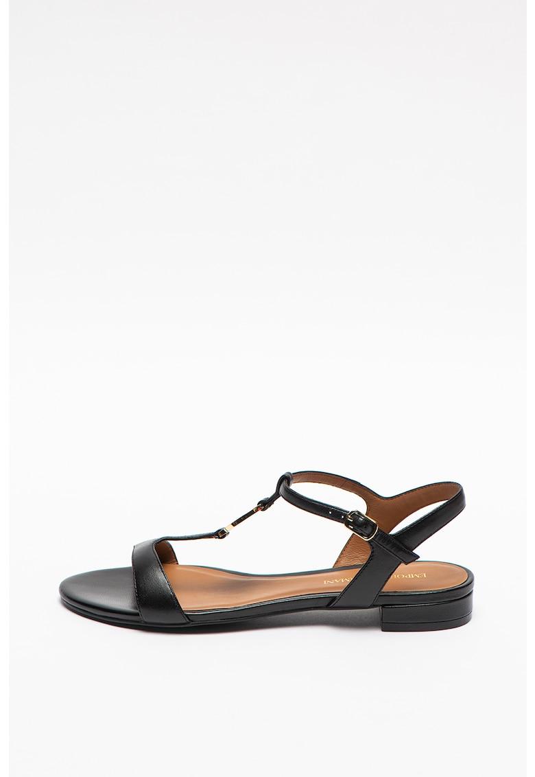 Sandale de piele cu toc masiv poza fashiondays