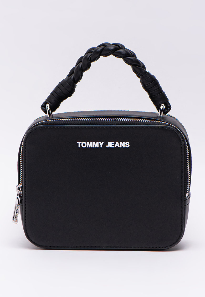 Geanta crossbody cu maner cu model impletit de la Tommy Jeans
