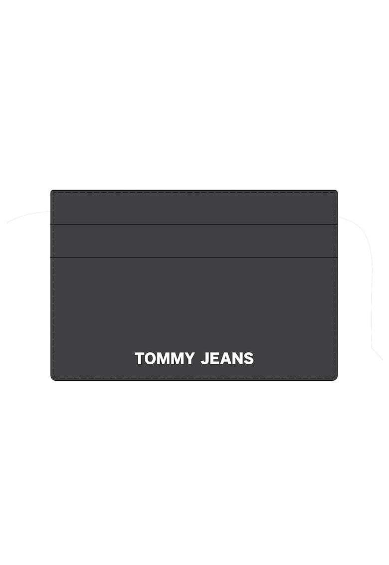 Portcart de piele ecologica cu aplicatie logo contrastanta imagine fashiondays.ro Tommy Jeans