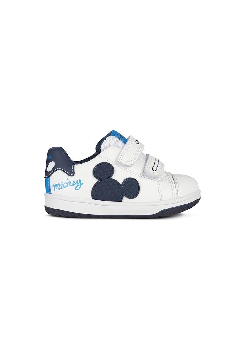 Pantofi sport din piele cu model Mickey Mouse