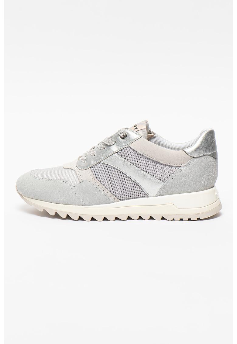 Pantofi sport cu detalii din piele intoarsa si piele Tabelya