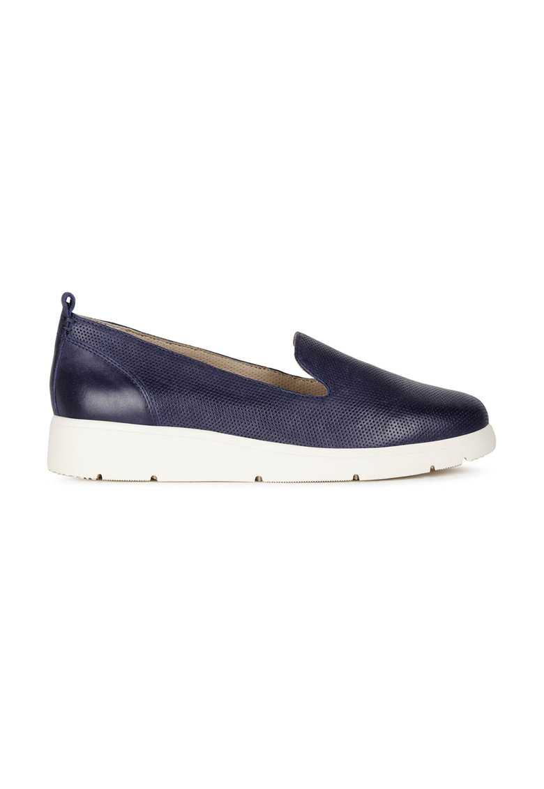 Geox Pantofi loafer din piele cu talpa wedge