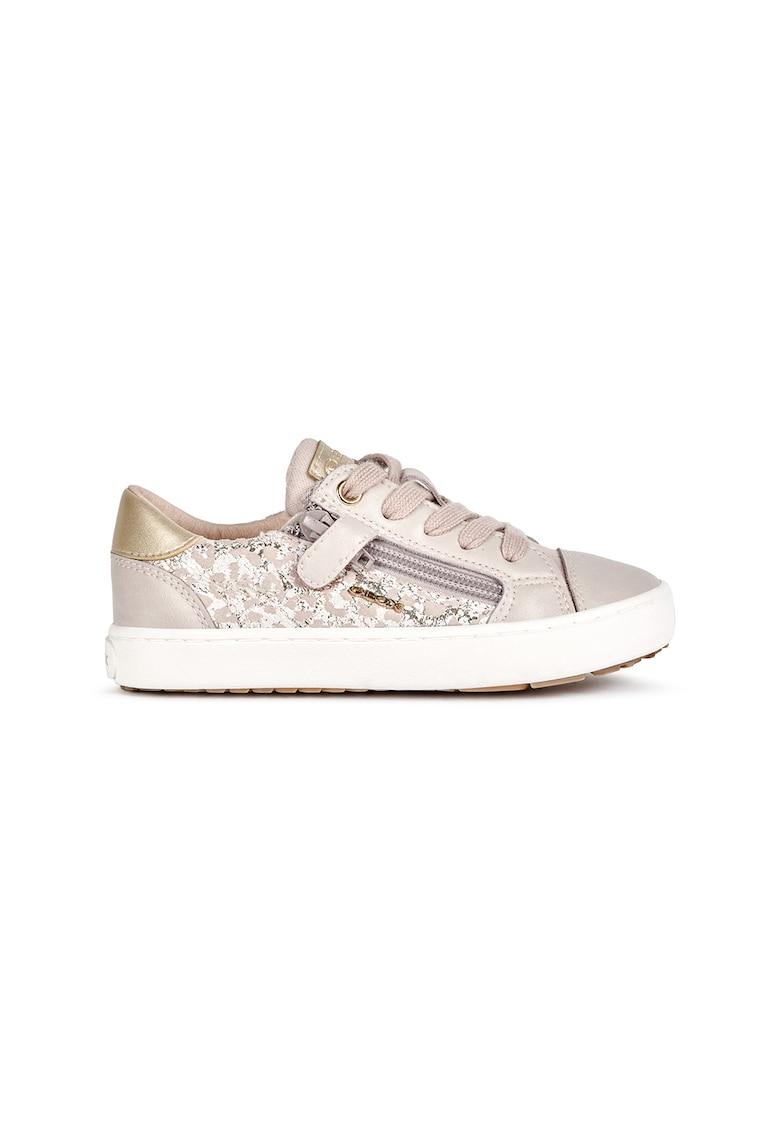 Pantofi sport cu insertii din piele intoarsa de la Geox