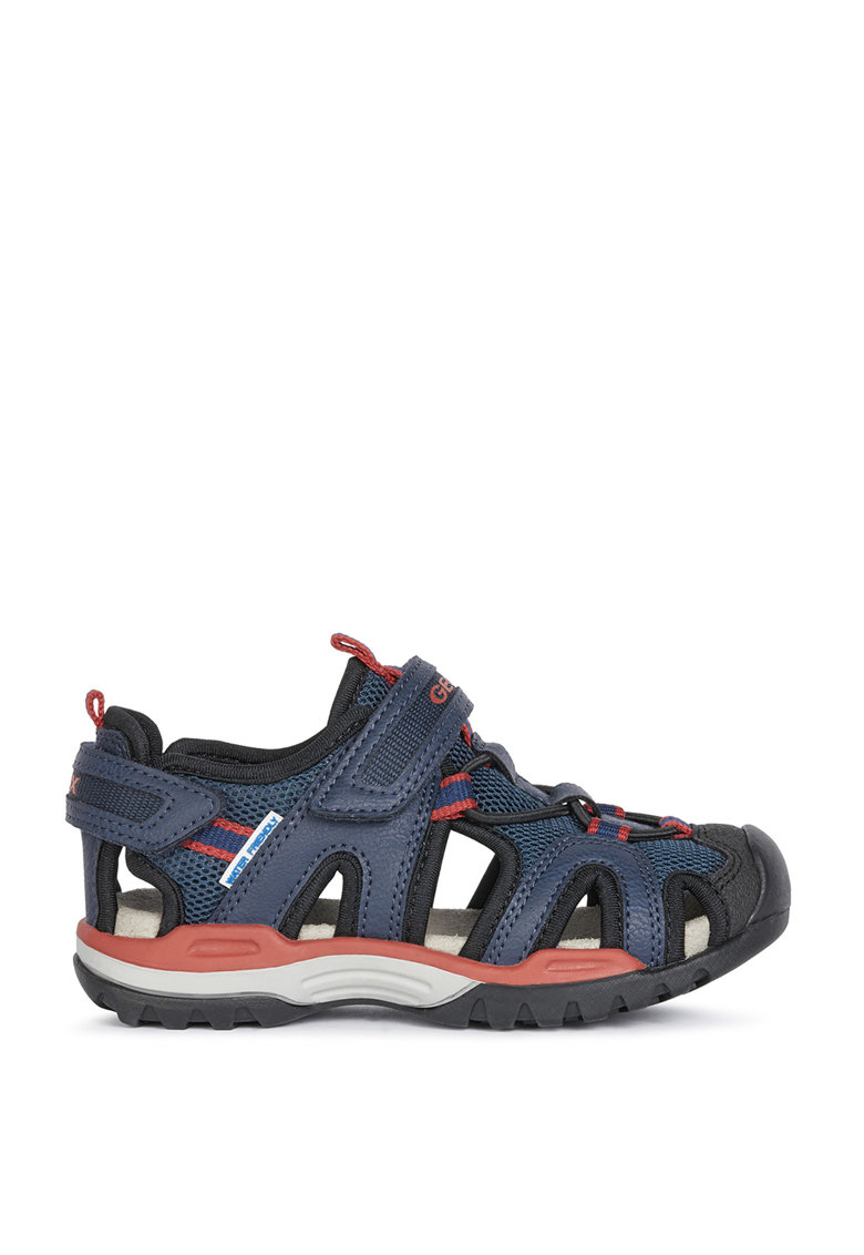 Sandale din material textil si piele ecologica