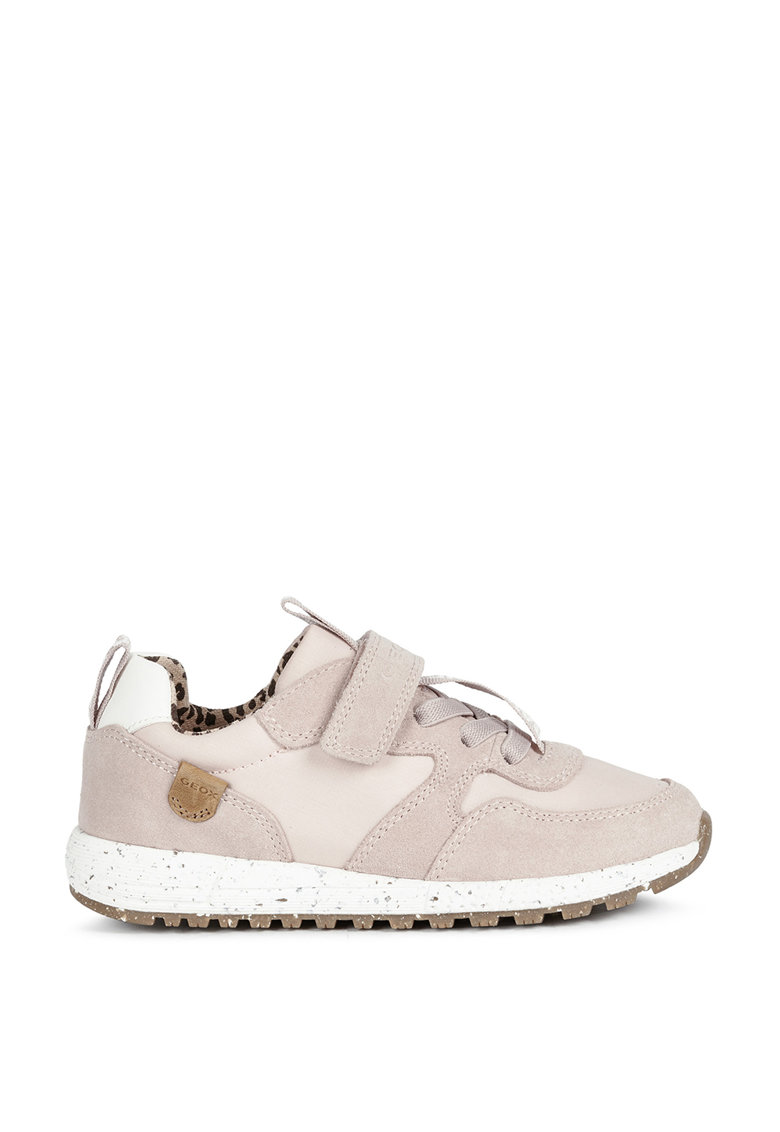 Pantofi sport din piele intoarsa cu logo