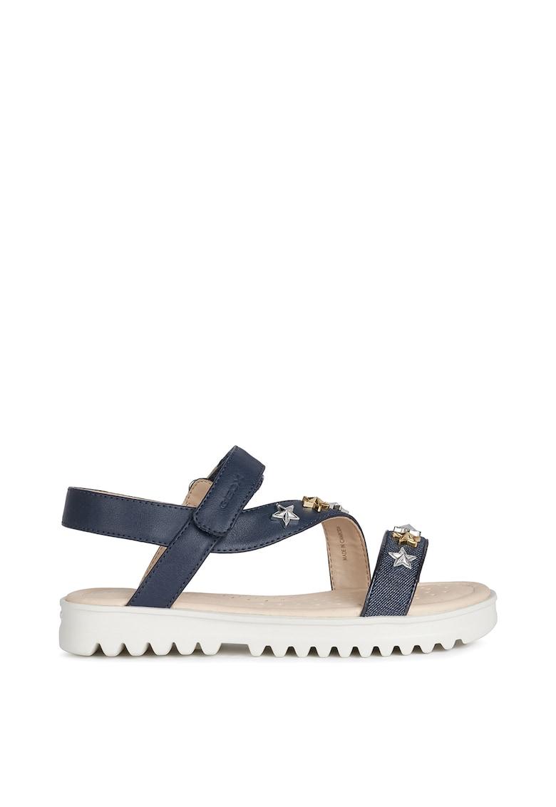 Sandale din piele ecologica cu detalii aplicate
