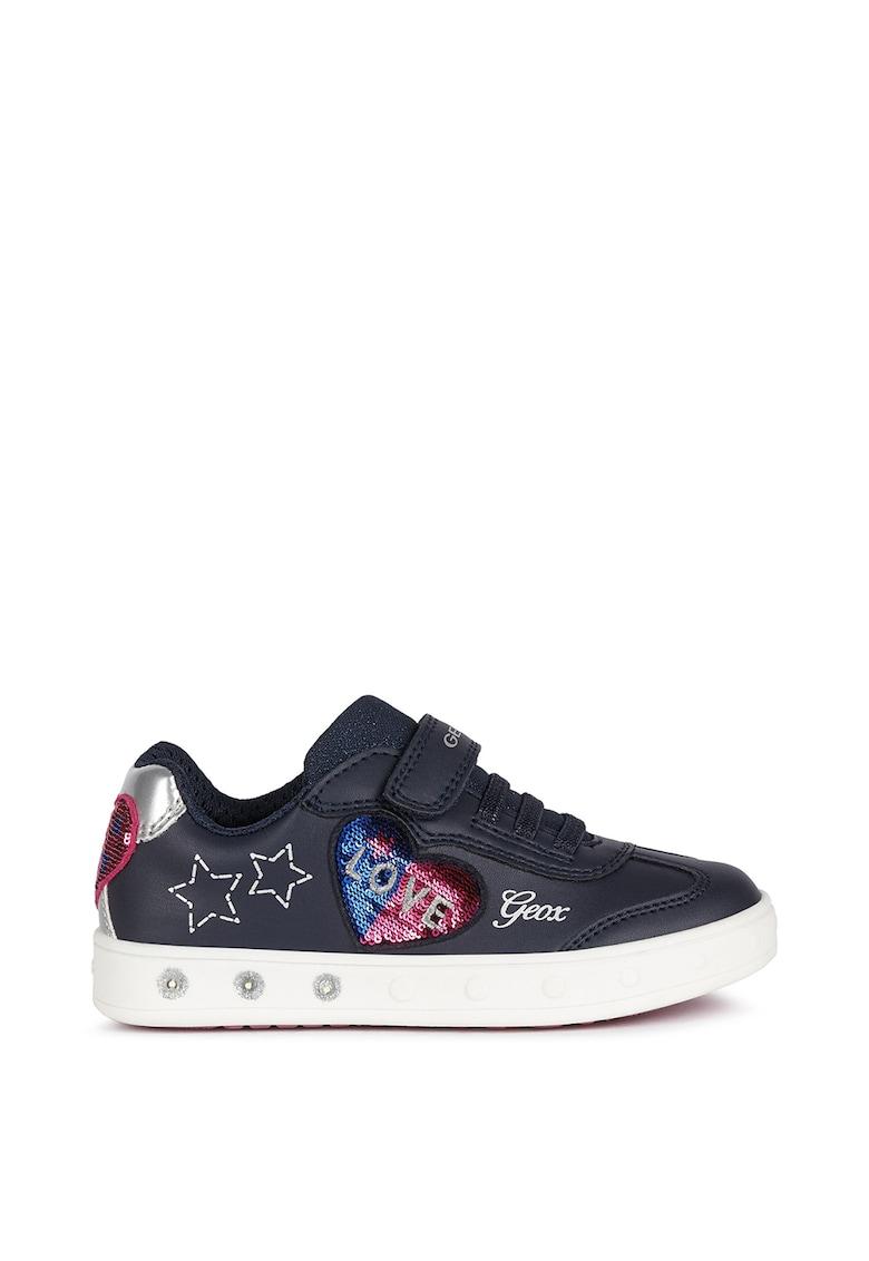 Pantofi sport de piele ecologica cu paiete