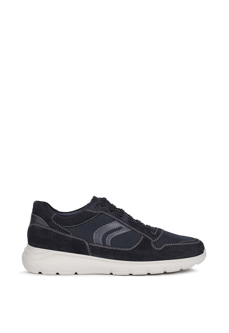 Pantofi sport cu insertii de piele intoarsa