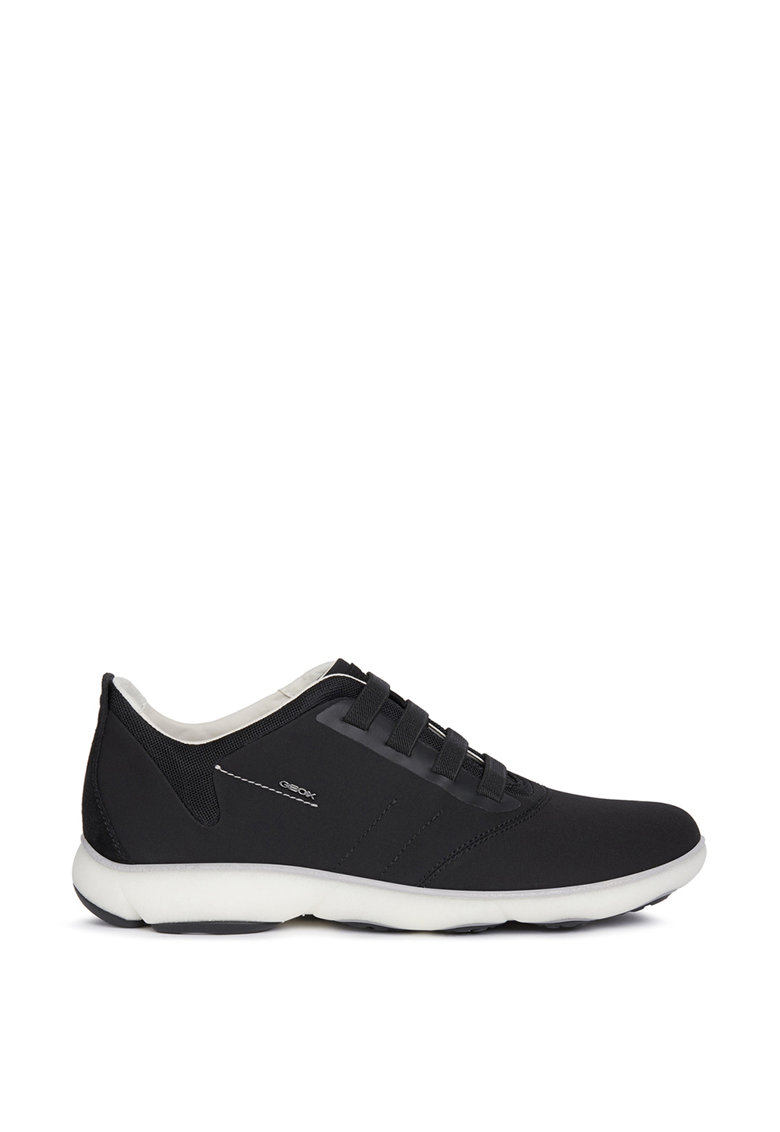 Pantofi sport de material textil cu insertii de piele intoarsa Geox fashiondays.ro