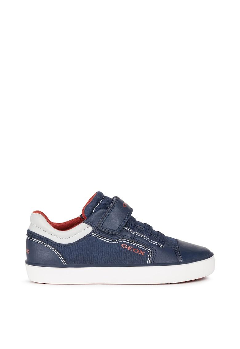 Pantofi sport din textil si piele ecologica cu velcro de la Geox
