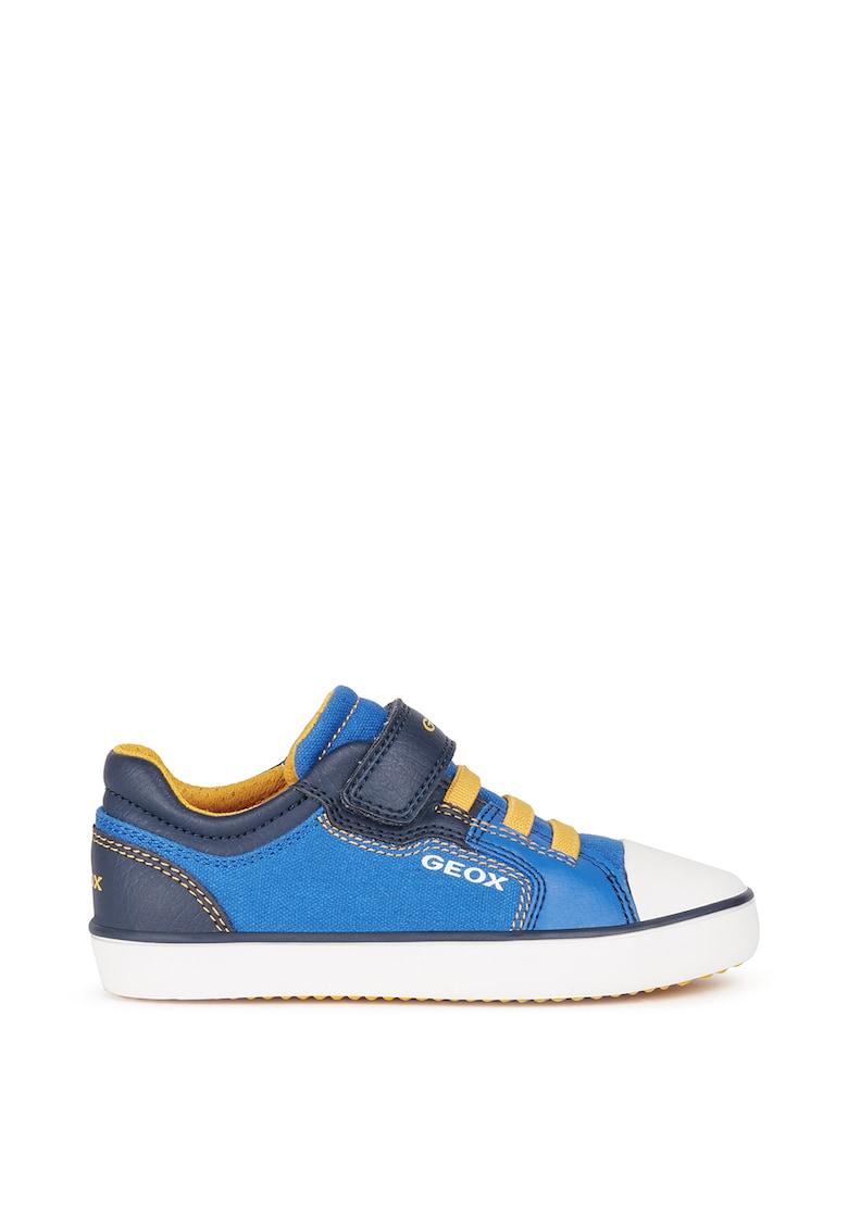 Pantofi sport de material textil si piele ecologica cu velcro de la Geox