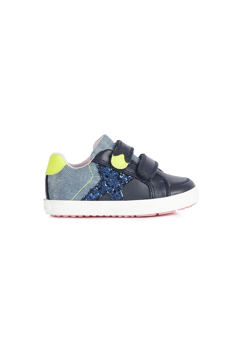 Pantofi sport cu velcro si detalii stralucitoare de la Geox