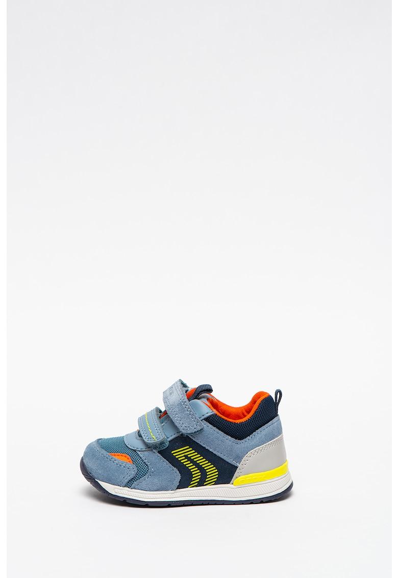 Pantofi sport din piele intoarsa cu insertii din plasa si piele Rishon