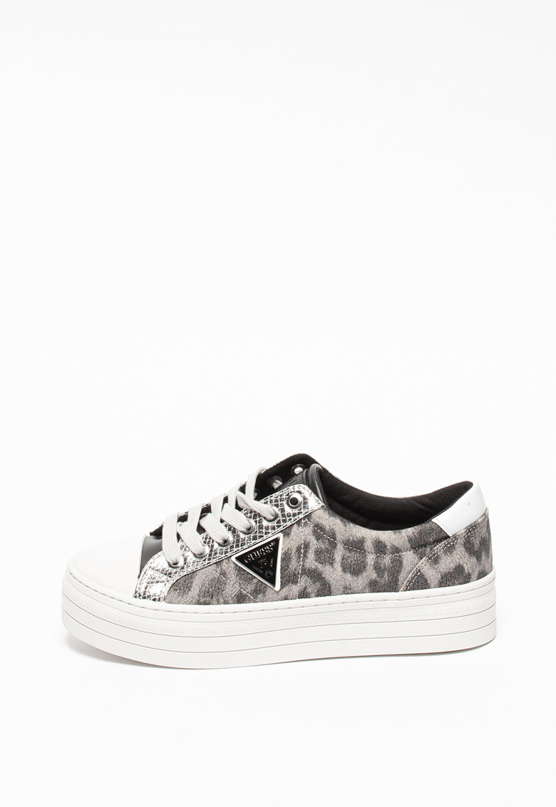 Pantofi sport flatform cu imprimeu leopard Brodey