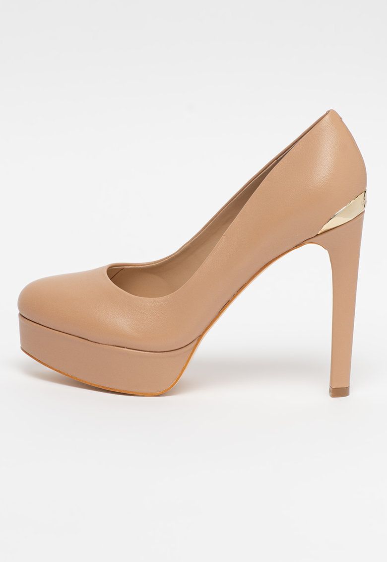 Pantofi de piele cu varf rotund Dearly