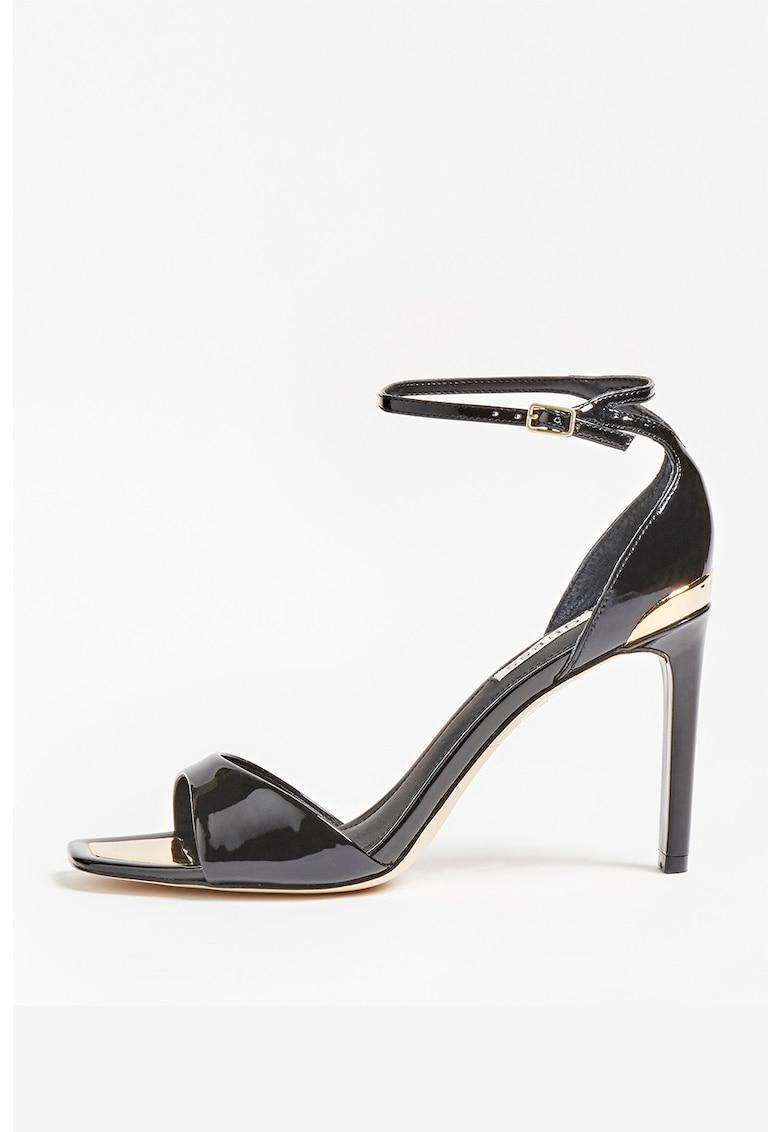 Sandale de piele ecologica cu toc inalt fashiondays.ro