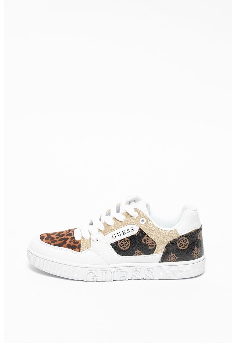 Pantofi sport din piele ecologica cu imprimeu variate Julien