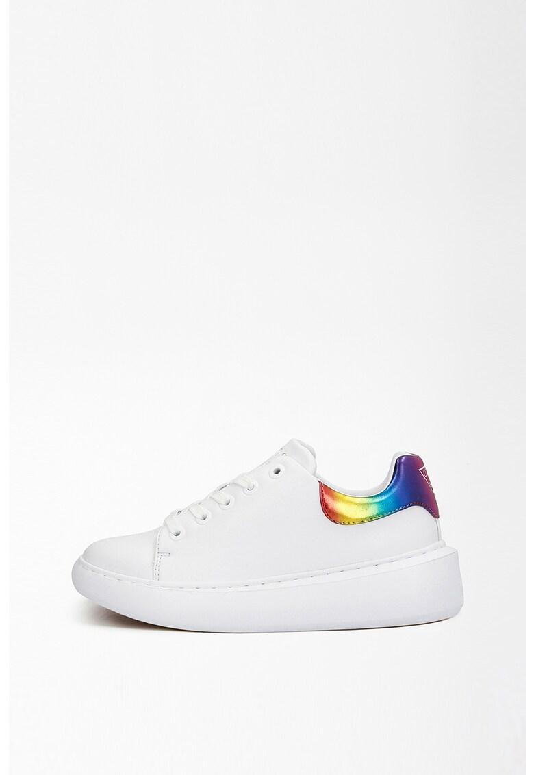 Pantofi sport de piele ecologica cu detaliu logo Bradly