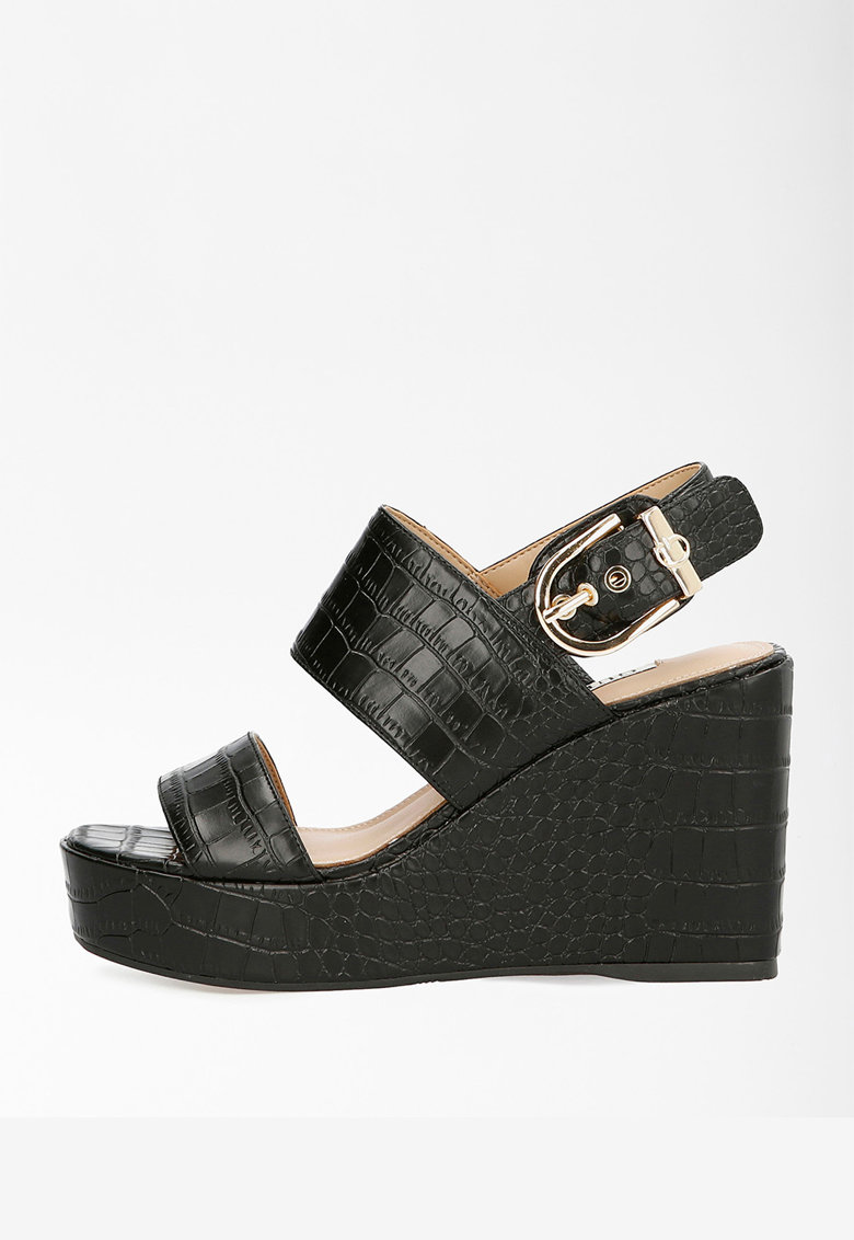 Sandale wedge de piele ecologica Nolita imagine fashiondays.ro 2021